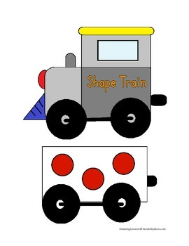 Shape Train Matching Cards