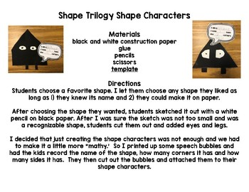 Shape Trilogy Shape Character with FREE Template