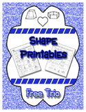 Shape Trio Printables - Patterning, Cut & Paste, Coloring