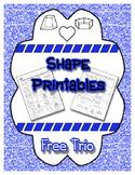 Shape Trio Printables - Patterning, Cut & Paste, Coloring