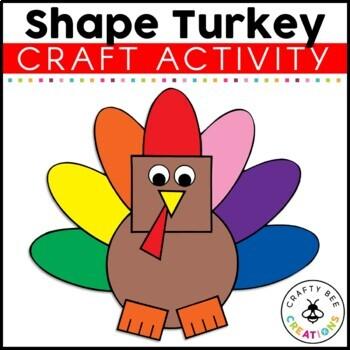Shape Turkey Cut and Paste