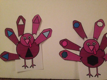 Shape Turkeys- 3 activities for Preschool or Special Education