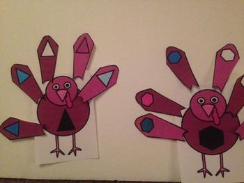 Shape Turkeys- 3 activities for Preschool or Special Education