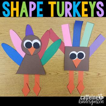 Shape Turkeys - Thanksgiving Craft