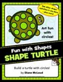 Turtle Shape Art—A Quick Art Activity Using Circles!
