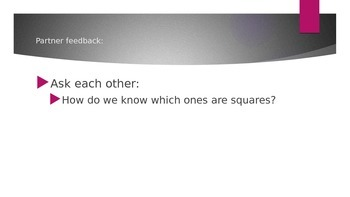 Shape Unit Partner Work (Square)