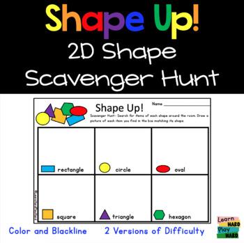 Shape Up! 2D Shapes Scavenger Hunt