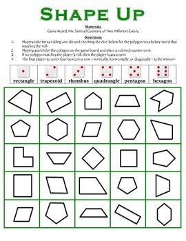 Shape Up - A 2 Player Geometry Game to Identify Polygons