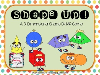 Shape Up! BUMP Game 3-D for Math Centers or Fast Finishers