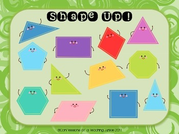 Shape Up! BUMP Game for Math Centers or Fast Finishers