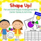 Shape Up! Flat and Solid Shapes Kindergarten Math Center G