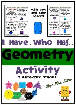 I Have...Who Has...Geometry Activity