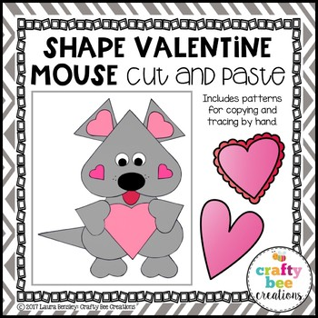 Valentines Day Craft {Shape Mouse}