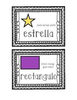 Shape Vocabulary Cards- Las Formas