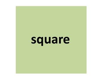 Shape Vocabulary Flash Cards
