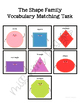 Shape Vocabulary Folder Game for Early Childhood Special Education