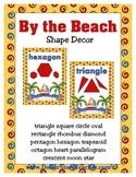 Shape Wall Posters - By the Beach Ocean Island theme inclu