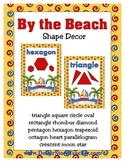 Shape Wall Posters - By the Beach Ocean Island theme inclu