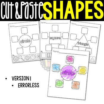 Shape Webs: Cut & Paste 2D Shape Worksheets, Geometry {Common Core ...