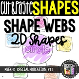 Shape Webs: Cut & Paste 2D Shape Worksheets, Geometry {Common Core Aligned}