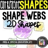 Shape Webs: Cut & Paste 2D Shape Worksheets, Geometry {Com