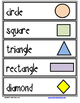Shape Word Cards for Your Word Wall