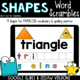 Shape Word Scrambles DIGITAL | Distance Learning