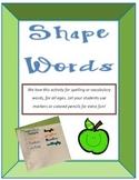 Shape Words