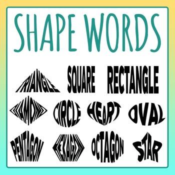 Shape Words Clip Art Set for Commercial Use
