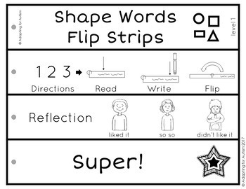 Shape Words Work Task (Special Education)