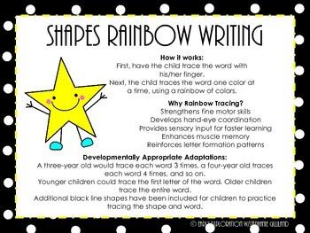 Shape Words Rainbow Writing