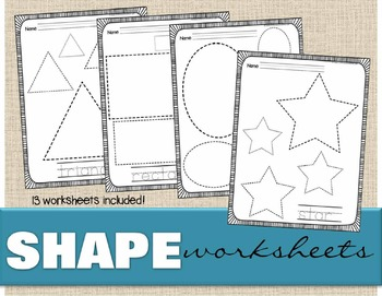 Shape Worksheets
