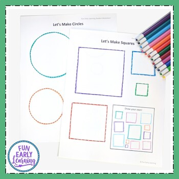 Shape Worksheets with Guided Lessons