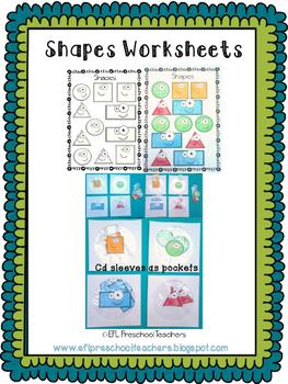 Shape Worksheets for Preschool ELL