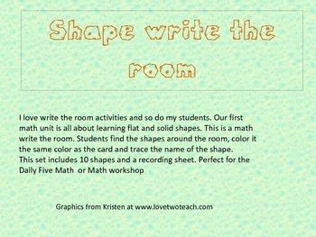 Shape Write the Room