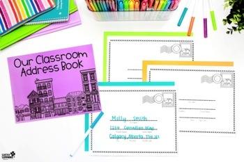 Classroom Address Book + Letter Writing