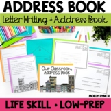 Classroom Address Book + Letter Writing