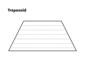 Shape Writing Template