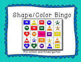 Shape and Color Bingo! Pre-school and Kindergarten