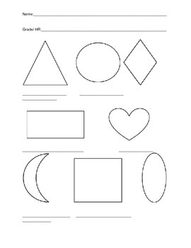 Shape and Color Identification