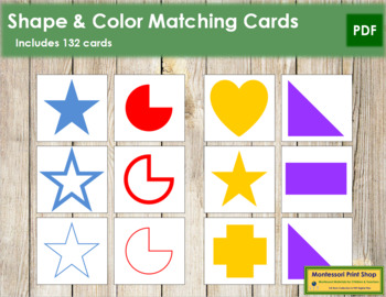 Shape and Color Matching Cards
