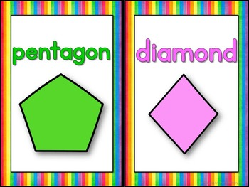 2D and 3D Shape and Color Posters - Rainbow