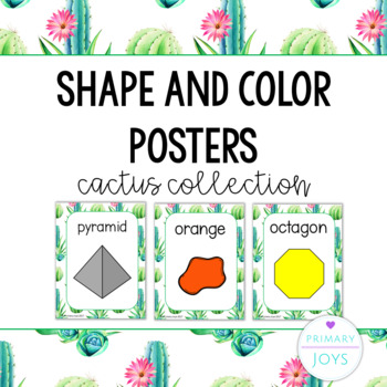 Shape and Color Posters - Cactus Collection