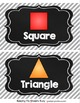 Shape and Color Posters - Chalkboard - 3D Shapes - FREE