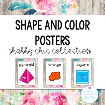 Shape and Color Posters - Shabby Chic Collection