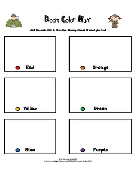 Shape and Color Room Hunt