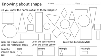 Shape and Color - US English