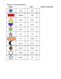 Shape and Color assessment