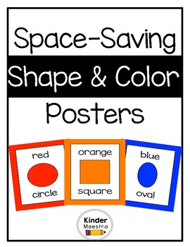 Shape and Colors Posters (Space-Saving)