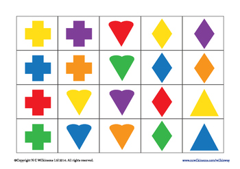 Shape and Colour Sorting Cards